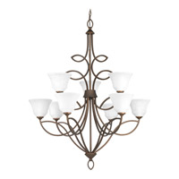Monogram 9 Light 36 inch Roasted Java Chandelier Ceiling Light