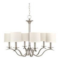 Progress P4739-09 Inspire 6 Light 30 inch Brushed Nickel Chandelier Ceiling Light