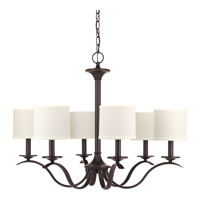 Progress P4739-20 Inspire 6 Light 30 inch Antique Bronze Chandelier Ceiling Light