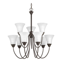 Tally 9 Light 30 inch Antique Bronze Chandelier Ceiling Light