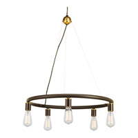 Swing 5 Light 25 inch Antique Bronze Chandelier Ceiling Light