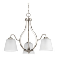 Arden 3 Light 22 inch Brushed Nickel Chandelier Ceiling Light