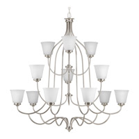 Keats 2 Light 45 inch Brushed Nickel Chandelier Ceiling Light