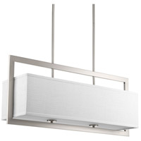 Harmony 4 Light 34 inch Brushed Nickel Linear Chandelier Ceiling Light