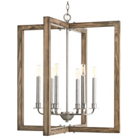 Turnbury 6 Light 26 inch Galvanized Chandelier Ceiling Light, Design Series