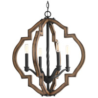 Spicewood 4 Light 22 inch Gilded Iron Chandelier Ceiling Light, Design Series