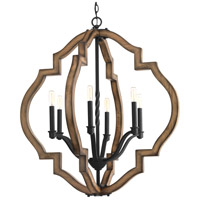 Spicewood 6 Light 30 inch Gilded Iron Chandelier Ceiling Light, Design Series