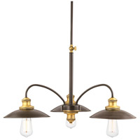 Archives 3 Light 28 inch Antique Bronze Chandelier Ceiling Light