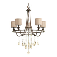 Progress Flourish 5 Light Chandelier in Cognac P4805-72