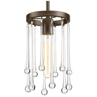 Sway 1 Light 7 inch Antique Bronze Mini-Pendant Ceiling Light, Design Series