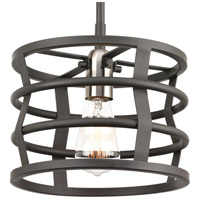Remix 1 Light 10 inch Graphite Mini-Pendant Ceiling Light, Design Series