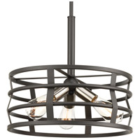 Remix 3 Light 16 inch Graphite Pendant Ceiling Light