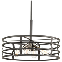 Remix 4 Light 22 inch Graphite Pendant Ceiling Light, Design Series