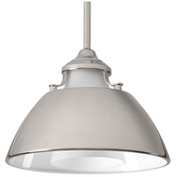 Carbon 1 Light 11 inch Polished Nickel Pendant Ceiling Light