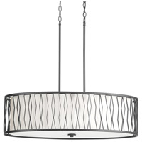 Progress P500017-143 Wemberly 4 Light 14 inch Graphite Pendant Ceiling Light Design Series