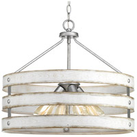 Progress P500023-141 Gulliver 4 Light 22 inch Galvanized Pendant Ceiling Light