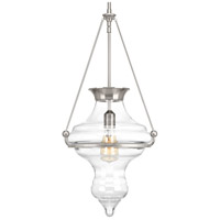 Cazbah 1 Light 14 inch Brushed Nickel Pendant Ceiling Light
