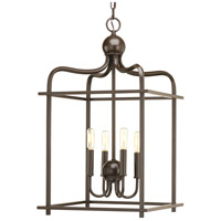 Assembly Hall 4 Light 15 inch Antique Bronze Pendant Ceiling Light, Design Series