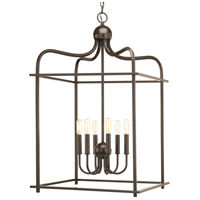Assembly Hall 6 Light 20 inch Antique Bronze Pendant Ceiling Light, Design Series