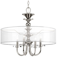 Marche 4 Light 22 inch Polished Nickel Pendant Ceiling Light, Design Series