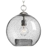 Progress P500063-009 Malbec 1 Light 12 inch Brushed Nickel Pendant Ceiling Light Design Series