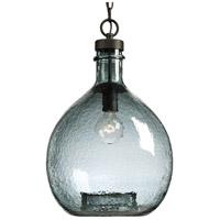 Progress P500064-020 Zin 1 Light 13 inch Antique Bronze Pendant Ceiling Light Design Series