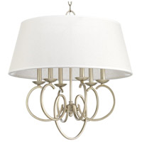 Progress P500081-134 Savor 6 Light 24 inch Silver Ridge Pendant Ceiling Light Design Series