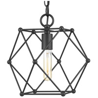 Spatial 1 Light 12 inch Black Mini Pendant Ceiling Light, Design Series