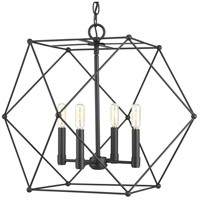 Spatial 4 Light 24 inch Black Pendant Ceiling Light, Design Series