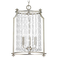 Progress P500085-134 Desiree 3 Light Silver Ridge Pendant Ceiling Light Design Series