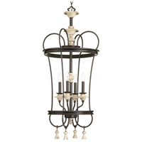 Bergamo 4 Light 19 inch Forged Bronze Foyer Pendant Ceiling Light, Design Series