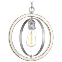 Progress P500092-141 Conestee 1 Light 12 inch Galvanized Mini Pendant Ceiling Light