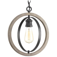Progress P500092-143 Conestee 1 Light 12 inch Graphite Mini Pendant Ceiling Light