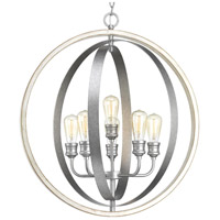 Conestee 6 Light 28 inch Galvanized Pendant Ceiling Light