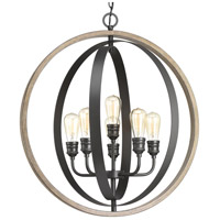 Conestee 6 Light 28 inch Graphite Pendant Ceiling Light