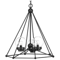 Spatial 3 Light 24 inch Black Foyer Chandelier Ceiling Light, Design Series