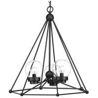 Progress P500096-031 Spatial 3 Light 24 inch Black Foyer Chandelier Ceiling Light Design Series