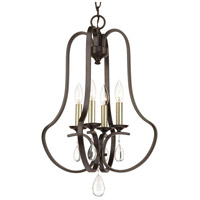 Anjoux 4 Light 16 inch Antique Bronze Foyer Pendant Ceiling Light