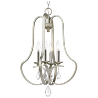 Progress P500099-134 Anjoux 4 Light 16 inch Silver Ridge Foyer Pendant Ceiling Light