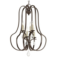 Anjoux 6 Light 22 inch Antique Bronze Foyer Pendant Ceiling Light