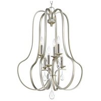 Progress P500100-134 Anjoux 6 Light 22 inch Silver Ridge Foyer Pendant Ceiling Light