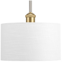 Progress P500101-009 Cordin 1 Light 10 inch Brushed Nickel Mini Pendant Ceiling Light Design Series