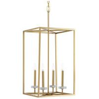 Progress P500105-078 Palacio 4 Light 15 inch Vintage Gold Foyer Pendant Ceiling Light Design Series