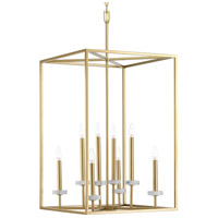 Palacio 8 Light 20 inch Vintage Gold Foyer Pendant Ceiling Light, Design Series