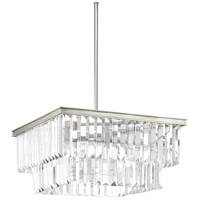 Glimmer 4 Light 20 inch Silver Ridge Pendant Ceiling Light, Design Series