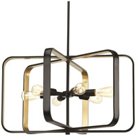 Progress P500112-020 Centre 6 Light 30 inch Antique Bronze Pendant Ceiling Light