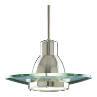 Progress Lighting Glass Pendants 1 Light Pendant in Brushed Nickel P5003-09