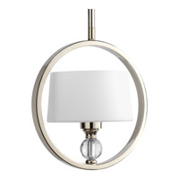 Progress P5007-104 Fortune 1 Light 9 inch Polished Nickel Pendant Ceiling Light