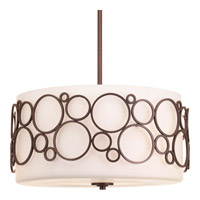 Bingo 3 Light 18 inch Venetian Bronze Pendant Ceiling Light