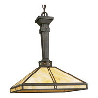 Progress Lighting Arts and Crafts 1 Light Pendant in Weathered Bronze P5021-46